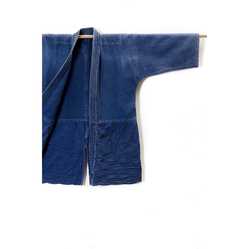 Vintage Cotton Kendo Jacket Dyed With Natural Indigo