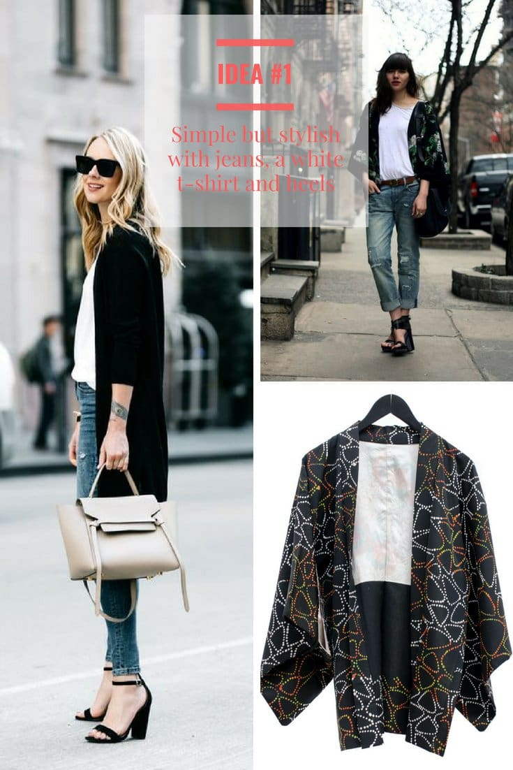 How to wear a black Kimono - 3 simple ideas to get you started