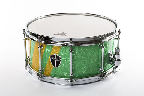 "Truth Custom Drums ""The Green Machine"" 14x6.5 10ply Maple"