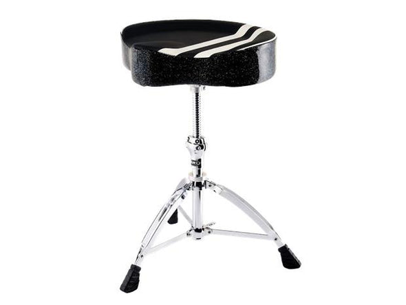 MAPEX RETRO SADDLE THRONE W/ SPIRAL THREAD - BLACK