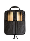 INFERNO MUSIC DRUMSTICKS 5A+ BLACK BOLTZ AMERICAN HICKORY 12 PACK & PADDED BAG