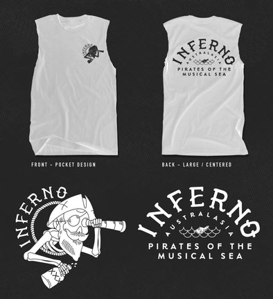 INFERNO LADIES MUSCLE TEE SHIRT