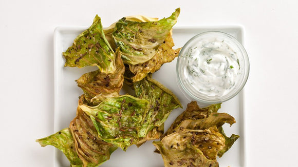 Recipe: Caraway Cabbage Chips with Dill Yogurt