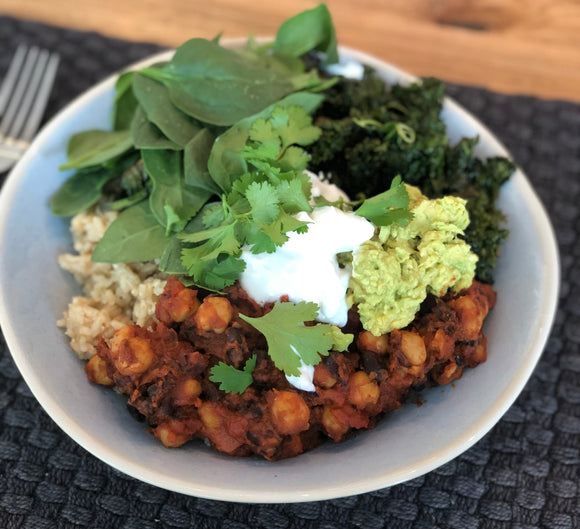 Recipe: Plant-Based Mexican Bean Bowl With Crispy Kale