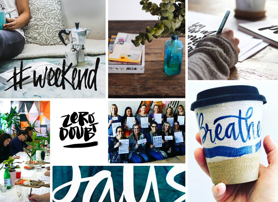 Brisbane Hand Lettering Mood Board