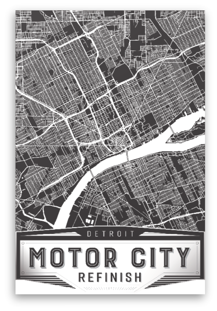Detroit Map Canvas Art