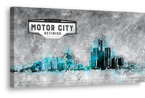 Detroit Skyline Canvas Art