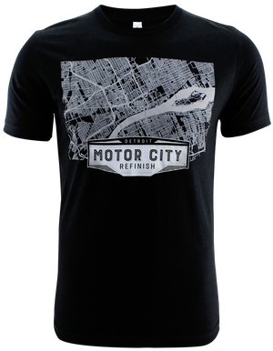Short Sleeve Detroit Map T-Shirt