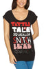 Iron Fist Black Ladies Squealer Boyfriend T-Shirt Tattle Tale Long Tee Ladies Short Sleeve T-Shirts DUSK Deals - 1