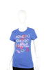 Lucky 7 Blue Ladies Some Do Don't I Might Tee Lipstick Kisses T-Shirt Ladies Short Sleeve T-Shirts DUSK Deals - 3