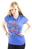 Lucky 7 Blue Ladies Some Do Don't I Might Tee Lipstick Kisses T-Shirt Ladies Short Sleeve T-Shirts DUSK Deals - 1