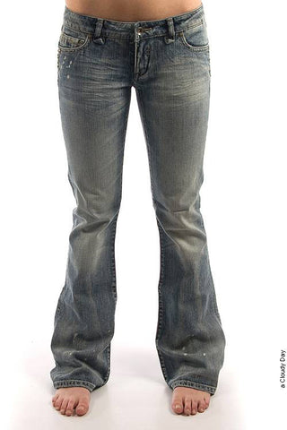 Parasuco 8032LBS Extra Low Rise Extra Slim Fit Light Blue Stud Jeans