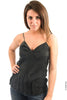 Parasuco Black Ladies Hot Spaghetti Strap Cotton Silk Cami Top LF7T014 Ladies Tank Tops DUSK Deals - 1