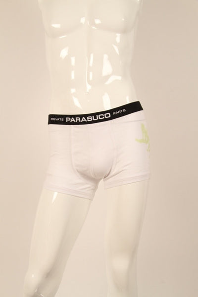 Parasuco Private Parts Underwear White Signature Glow Chimera Boxers Mens Underwear DUSK Deals - 1
