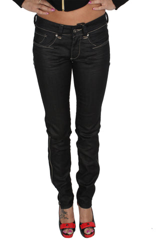 Parasuco 8-SLIKZ Low Rise Slim Fit Black Blue Long Zipper Skinny Jeans