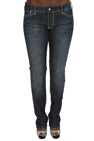 Parasuco 8031PRJ Extra Low Rise Slim Fit Blue Narrow Leg Ladies Jeans