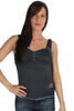 Parasuco Black Blue Ladies Chimera Vintage Cami Tank Top 8AJA Ladies Tank Tops DUSK Deals - 1
