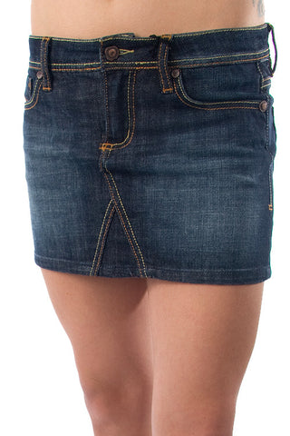 Parasuco TALLIA Blue Denim 7 Pocket Ladies Mini Jean Skirt