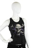 Skulbone Black Skull Eyeball Crossbones Lightening Juniors Tank Top Ladies Tank Tops DUSK Deals - 1