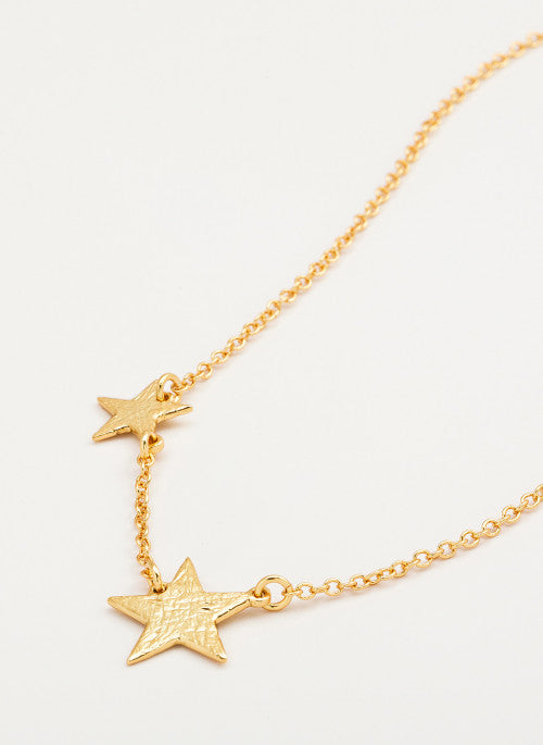 Super Star Necklace in Gold