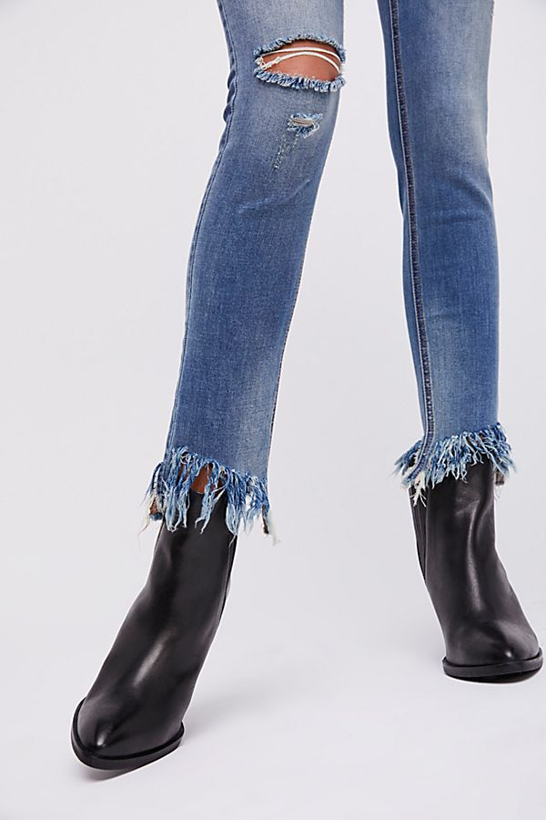 Great Heights Frayed Skinny Jeans Blue Sky