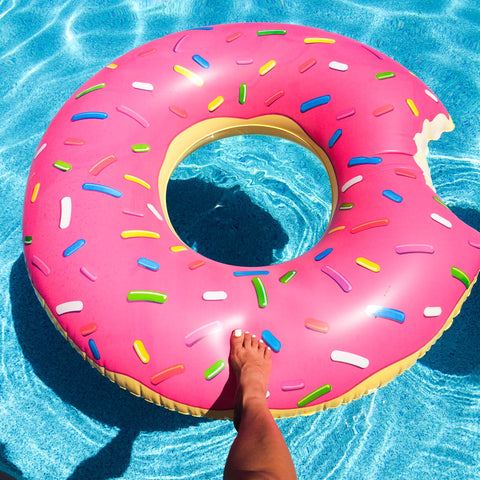 Giant Donut Pool Float in Pink
