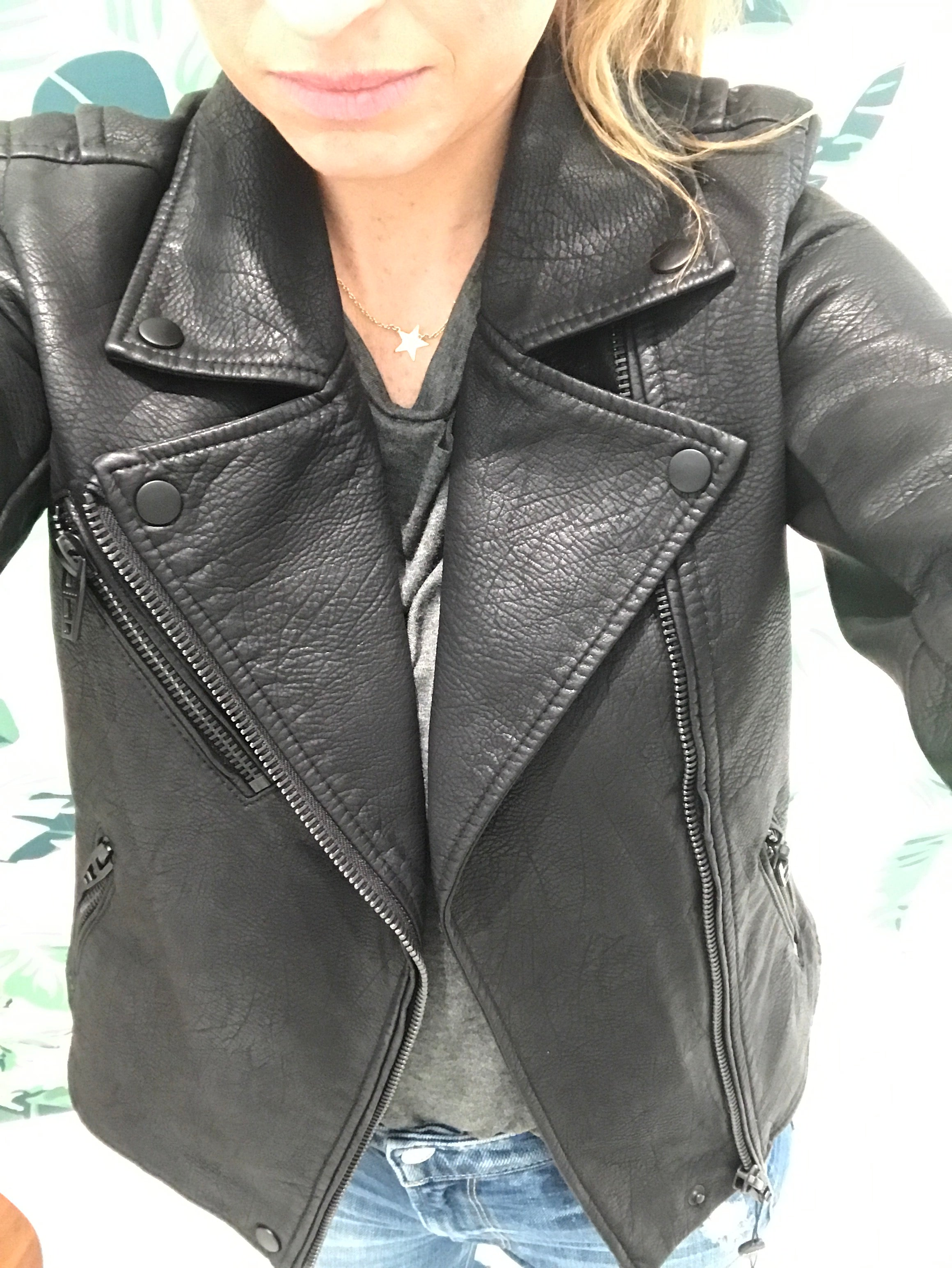 Onyx Moto Faux Leather Jacket