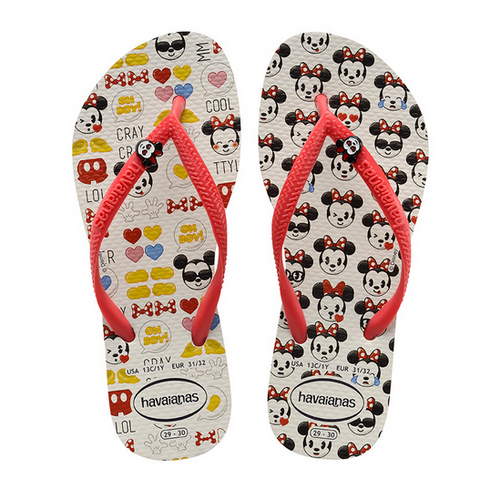 KIDS SLIM DISNEY COOL SANDAL IN WHITE/RUBY RED