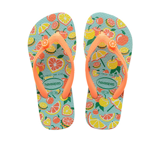 KIDS CITRUS SANDAL IN BLUE/ORANGE