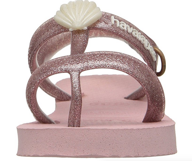 KIDS SHELL SANDAL IN PEARL PINK