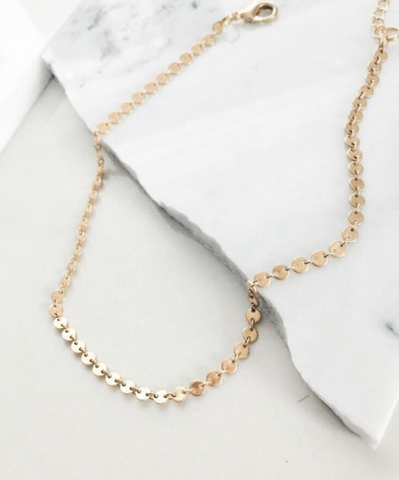 Mermaid Classic Zayit Bar necklace in 14k gold fill