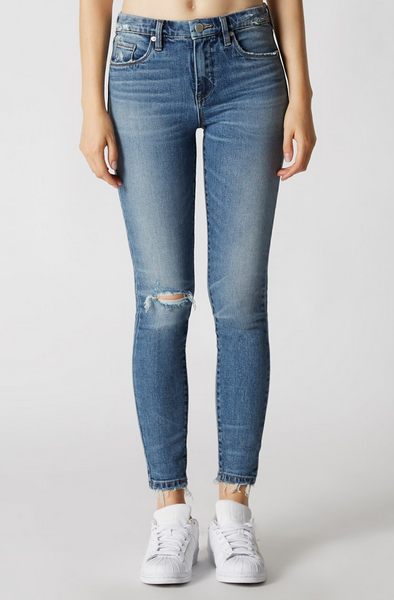 High Rise Jean in Trip Stitch