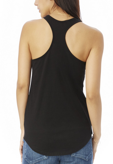 Satin Jersey Shirttail Tank Top