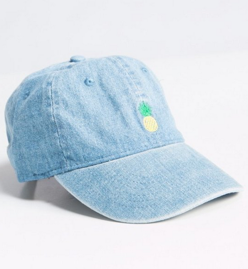 Pineapple Denim Hat