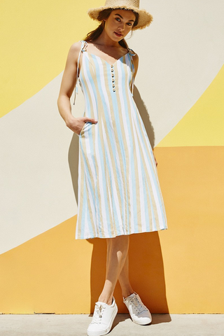Sienna Linen Button Dress