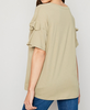 Maddie Bow Sleeve Tee in Olive