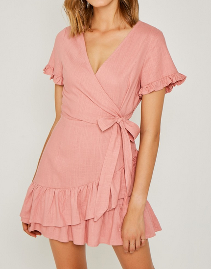 Maisey Linen Wrap Dress
