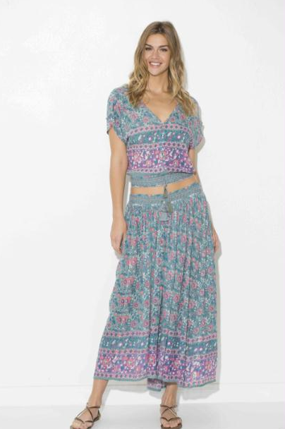 Lydia Printed Long Skirt