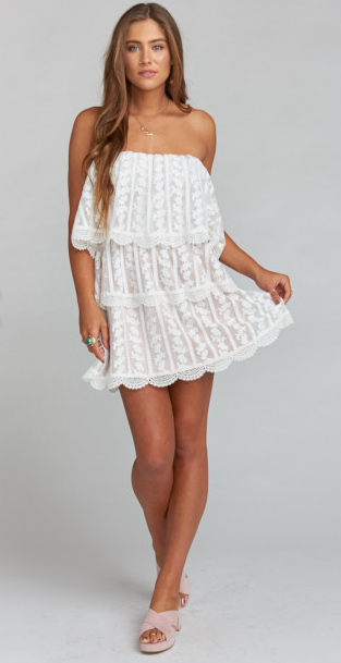 Lana Dress in Dainty Darling Crochet Lace
