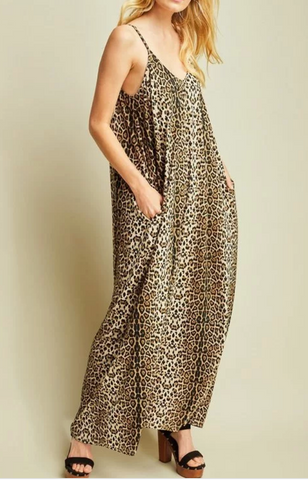 Carly Cheeta Jumpsuit
