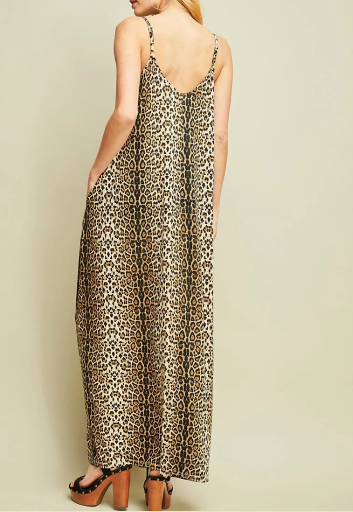Julie Leopard Maxi Dress