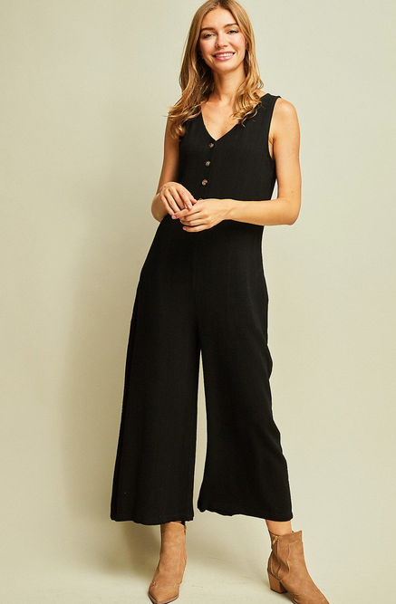 Lennon Button Front Jumpsuit