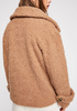So Soft Cozy Peacoat in Teddy Brown
