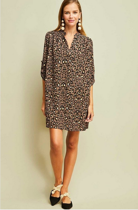 Donna Leopard Dress