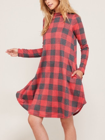 Buffalo Long Sleeve Swing Dress