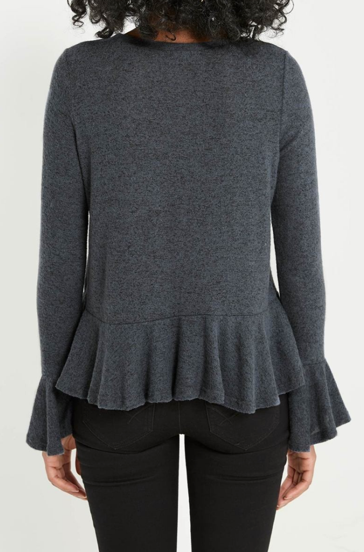 Rachael Peplum Sweater Top