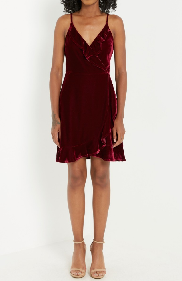 Laura Velvet Wrap Dress