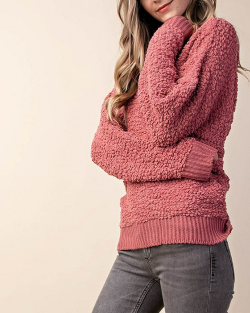 Shiloh Twist Back Fuzzy Sweater