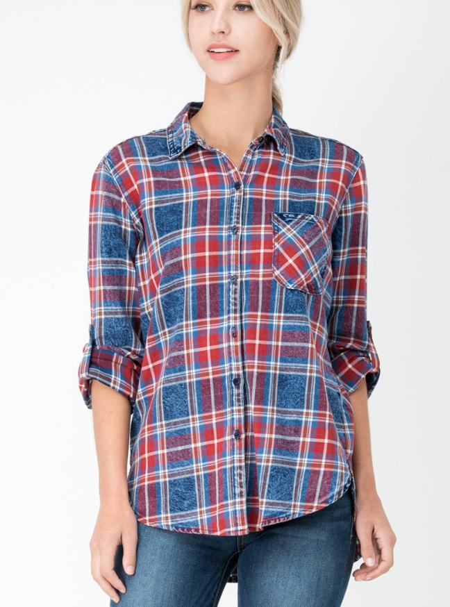 Billie Plaid Button Up