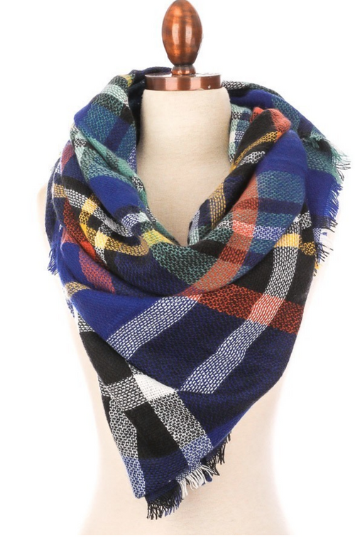 Julie Plaid Blanket Scarf